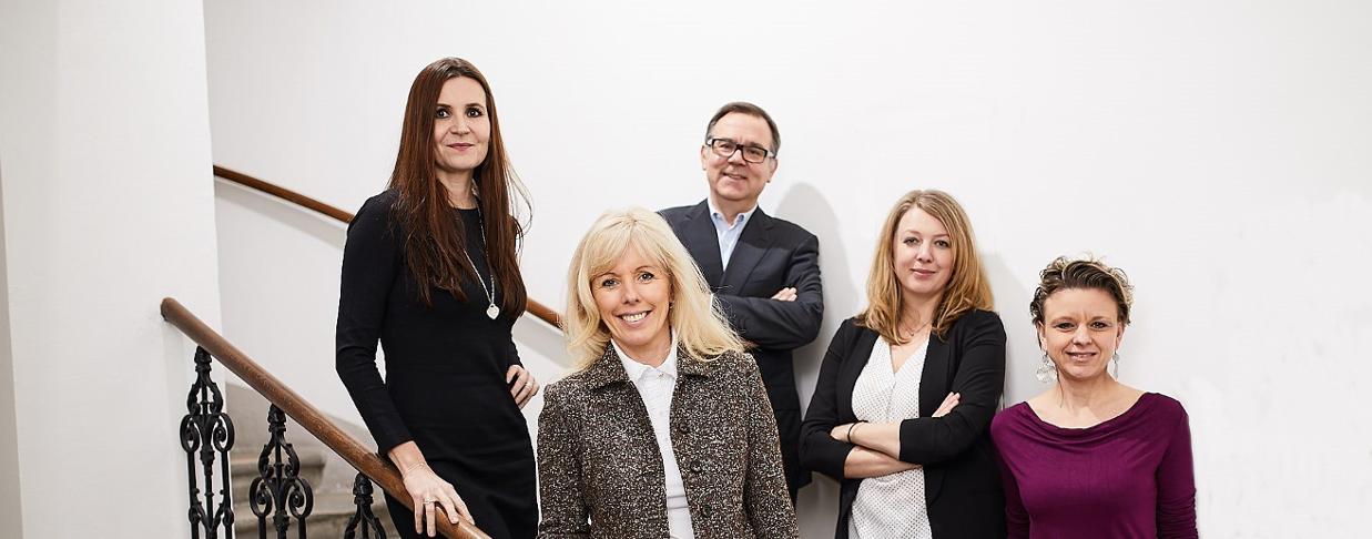 v.l.n.r.: Mag. Katharina Riedl, Alexandra Nagy MSc, MBA, Mag. Dietmar Trummer, Dr. Agnes Reinthaler, Mag. Silke Ploder. (c) Stefan Csàky